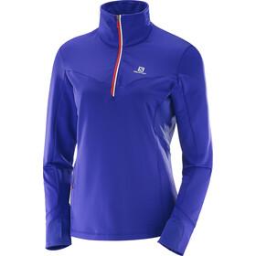 Salomon Trail Runner Warm Midlayer Dame spectrum blue